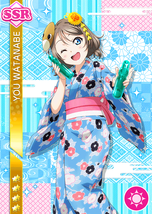 #1698 Watanabe You SSR idolized