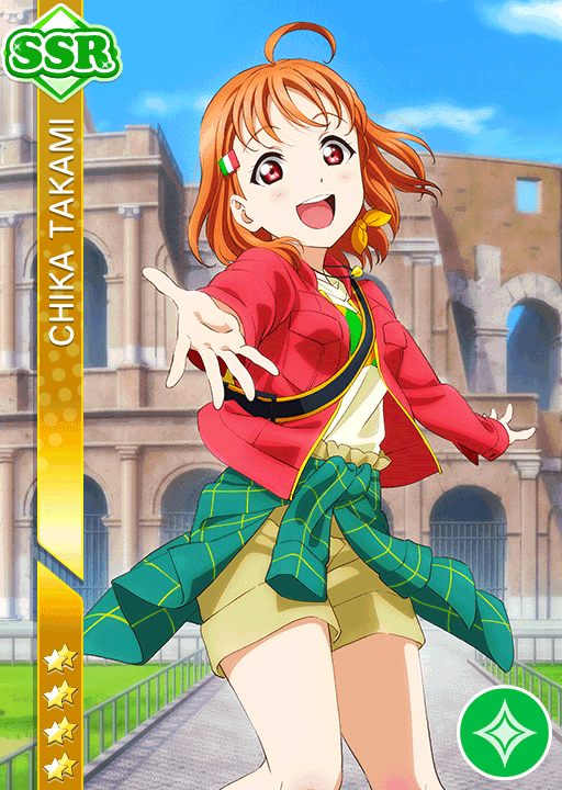 #1884 Takami Chika SSR idolized