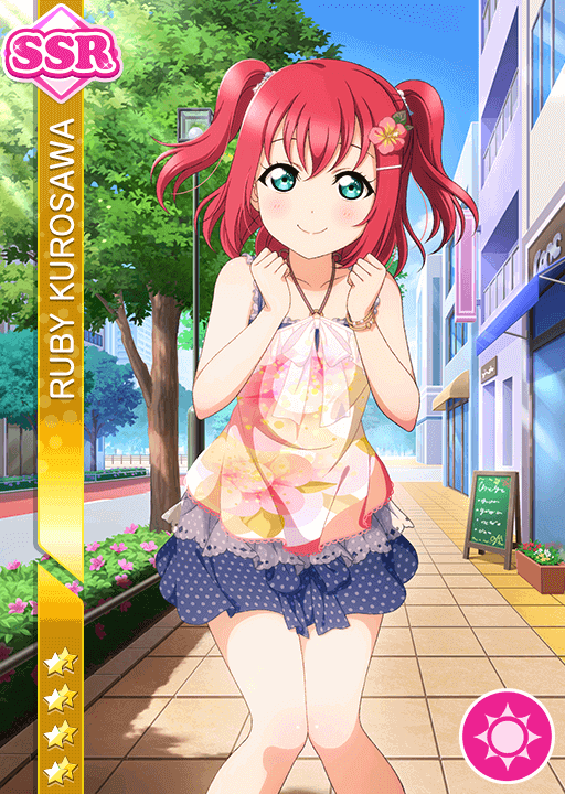 #2529 Kurosawa Ruby SSR idolized