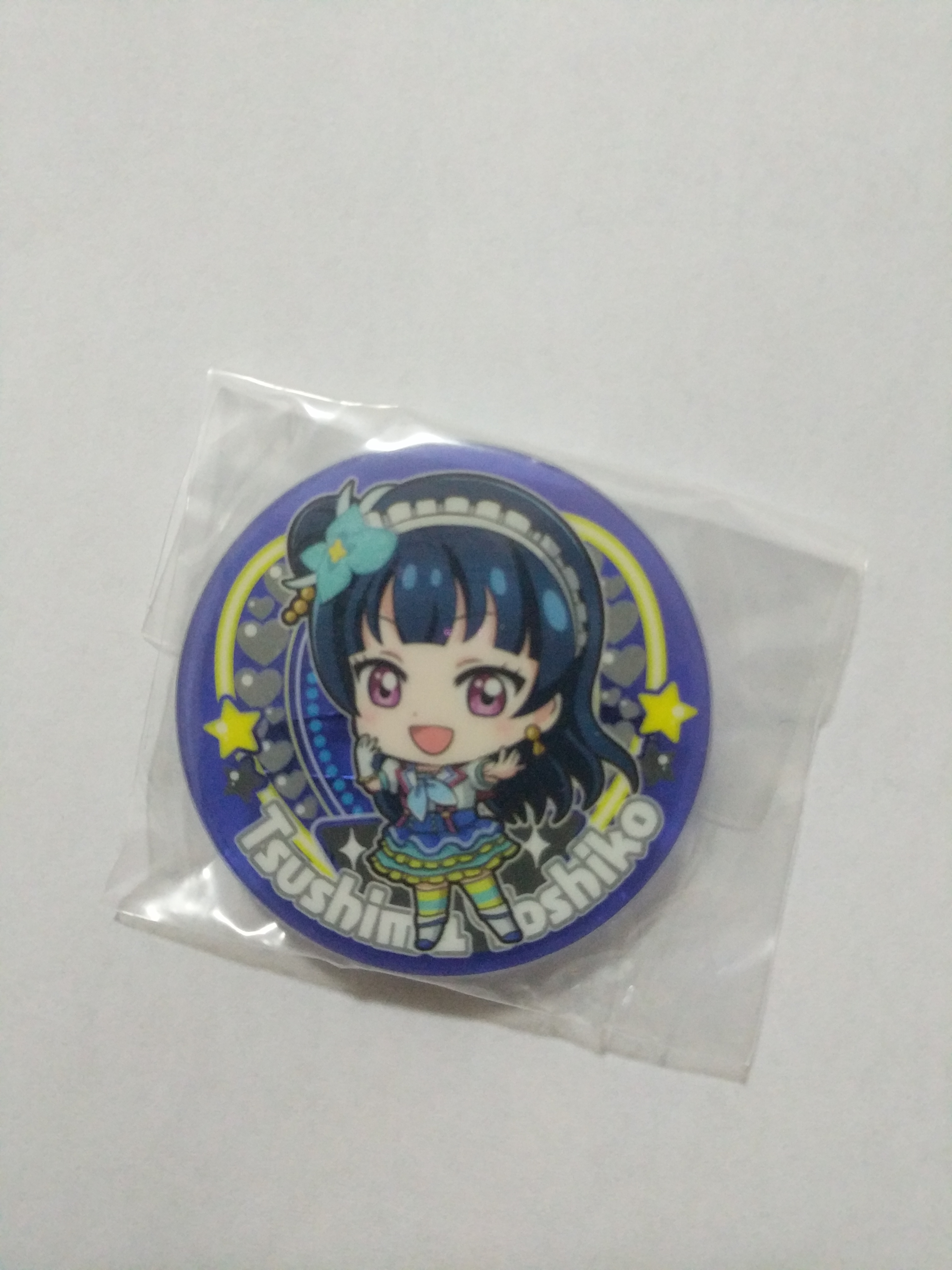 Yohane Aozora Jumping Heart acrylic badge